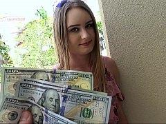 アメリカ人, 露出狂, お金, アウトドア, ハメ撮り, 公共, オマンコ, ティーン