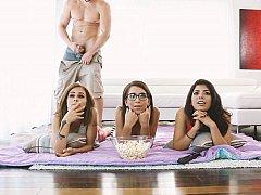 Amerikaans, Lieveling, Bruinharig, Gek, Groep, Feest, Realiteit, Tiener