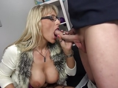 Grown-up busty moms having sex with boys