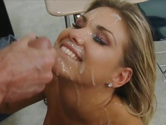 Big dripping facials, cumshots on the face, facialized sluts