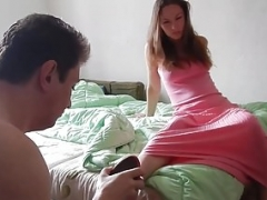 Cuckolded Minion Licks Sperm out of Summer's Pussy!