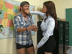 Американки, Брюнетки, Женщины, Секс без цензуры, Каблуки, Милф, Чулки, Учитель