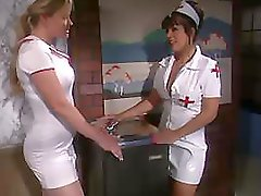 The nurses uniform gets torn while some hot making love goes on