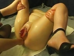 Gaping holes, wet gaping pussy and ravaged gaping ass