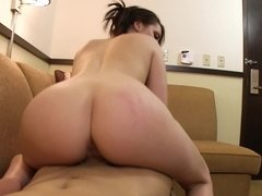 A big ass woman is getting her sexy pussy entered by a long pole