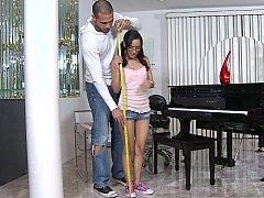 Petite teen Tia in action