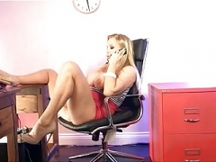 Rebecca playing in the S66 Office