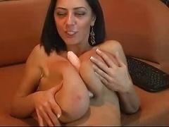 Merilyn Sakova. Playing with a dildo.