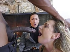 This Hot Wife Takes Advantage of this Large Black Cum cannon