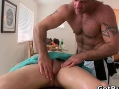 Tattooed hunk gets his smooth butt rimmed