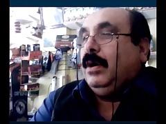 beautiful and horny turkish grandpa show his bulge