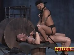 Young guy loves riding fat cock