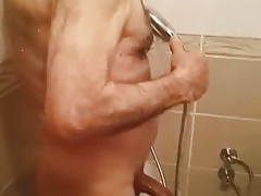 big dick grandpa under the shower