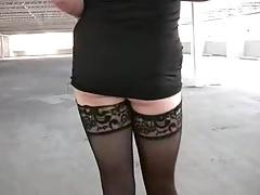 Tranny shows off in public