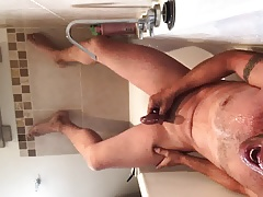 Piss and cum in bath