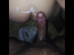 Cute twink fucked in a farm interracial