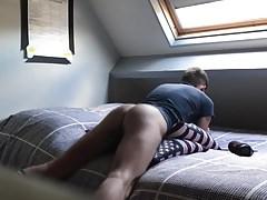 American flag pillow humping orgasm