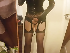 Horny Cd cum on a mirror