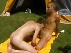 Twinks fucking on a camping trip !!!