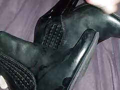 Lots of cum for K's ankle boots