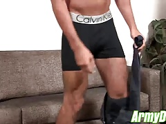 Muscular Jake strips down for his very first time on camera