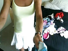 Panty covered tranny
