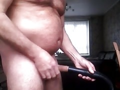 using vacuum cleaner as a sex toy for my cock