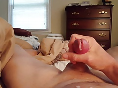 Almost hit my face with my cum!   Second orgasm at the end