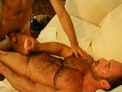 Hot gay bear gets his amazing butt fucked hard from behind