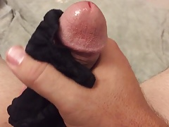 Cum in black pantyhose again