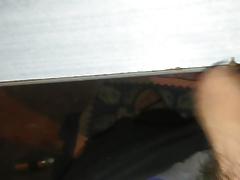 cumming on desk