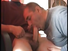 Bald Dad loves to suck and swallow!
