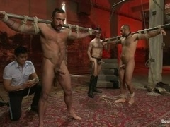 Alessio Romero and one more guy get tortured by Van Darkholme