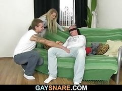 Hetero hunk enjoys gay first experience