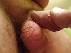 Saggy big balls swing & bounce limp penis follows