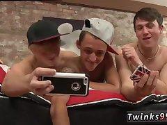 Hot gay trio sucking