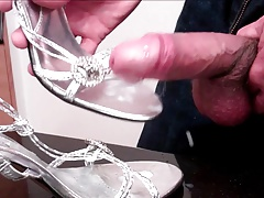 Sexy Silver Steel-Peg High Heels Get Fucked