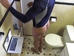 Bathroom in thong
