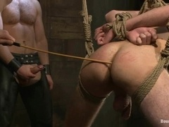 A twink gets his ass destroyed by wicked daddy in BDSM scene