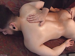 Bisexual Adrian involuntary responds to prostate stimulation