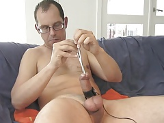 Pissing and double sounding vintage vid.