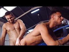 Muscle guys  fucking Business man