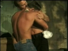 Two insatiable homos enjoy fervent banging in a basement