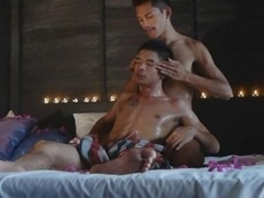 A Slippery And moreover Stimulating Homosexual Asian Sex Massage
