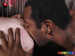 Black studs dominating and banging a white guy