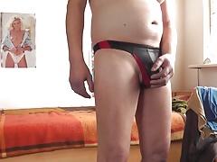 schwarzroter string