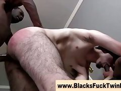 Twink gets spit roasted