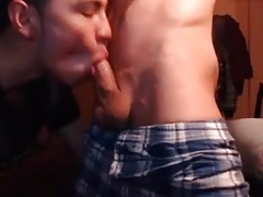 Young Asian Cutie Blows White Twink on Webcam