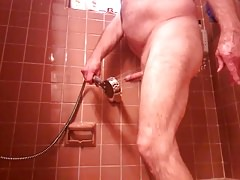 Hands free cum in shower