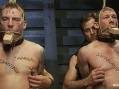 Two nasty poofters get punished by Van Darkholme in BDSM video